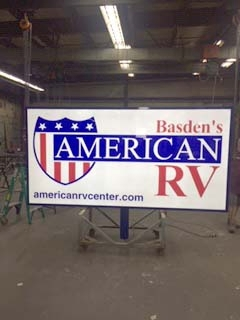 Basden American RV Business Sign