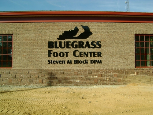 Bluegrass Foot Center dimensional plastic letter sign