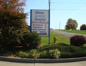 Gibson General Hospital Pylon Sign