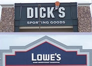 Dicks' Sporting Goods & Lowes